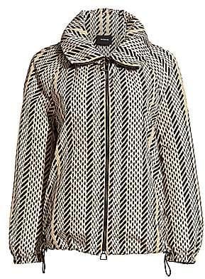 Akris Women's Veronique Tweed Anorak Jacket
