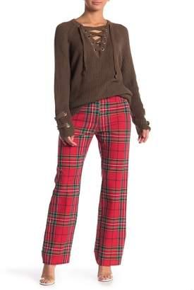 Love + Harmony Plaid Straight Leg Pants