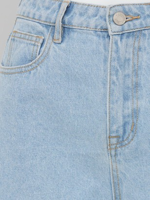 Missguided A-line Denim Shorts - Denim Blue