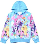LEMONBABY little girls my little pony cute fleece outerwear jacket hoodies (M, )