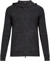 Vince Zip-through hooded cotton-blend knit sweater