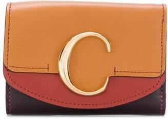 Chloé colour block square wallet