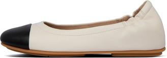 FitFlop Allegro Soft Leather Toe-Cap Ballet Flats