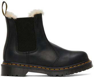 Dr. Martens Black Faux-Fur 2976 Lenore Boots