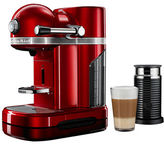 KitchenAid Nespresso Candy Apple Red by with Aeroccino3 black
