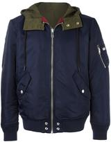 Diesel panelled back hooded jacket