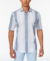 Alfani Men's Spangler Vertical Stripe Cotton Shirt, Created for Macy's