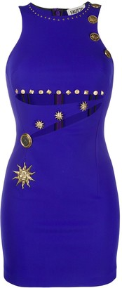 Fausto Puglisi Embellished Cut-Out Dress