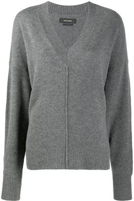 Isabel Marant seam detail V-neck jumper