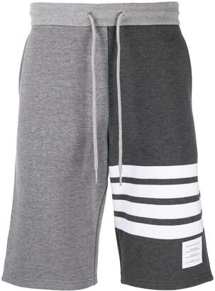 Thom Browne 4-Bar stripe tonal track shorts