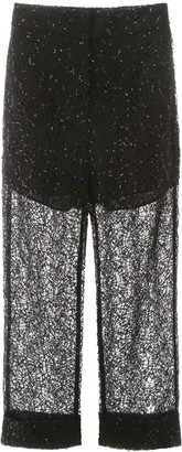 Self-Portrait Sequin Lace Pants