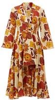 Dodo Bar Or Charlotte Tie-front Floral-print Cotton Midi Dress - Womens - Cream Print