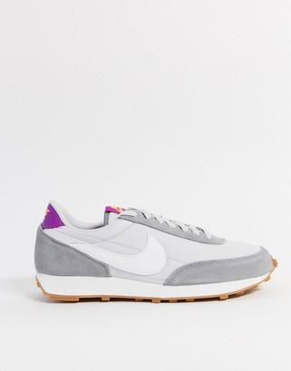 Nike Daybreak trainers in tonal grey and white