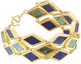 Pippa Small Gold Plated Silver Bracelet with Chrysocolla and Lapis