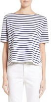 Burberry Women's River Piave Stripe Wool Blend Tee