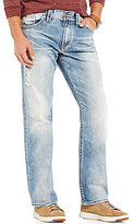 Silver Jeans Co. Gordie Distressed Stretch Loose-Fit Straight-Leg Jeans