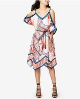 Rachel Roy Printed Cold-Shoulder Dress