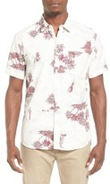 Quiksilver Men's Island Apocalypse Shirt Trim Fit Sport Shirt
