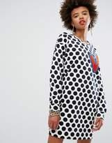 Love Moschino Dotty Print Sweat Dress
