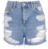 Topshop Moto longline rip mom shorts