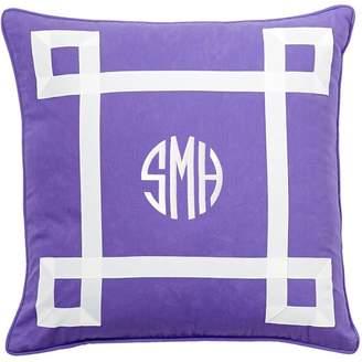 Pottery Barn Teen Ribbon Trim Monogram Pillow, 18&quotx18&quot, Quartz Blush