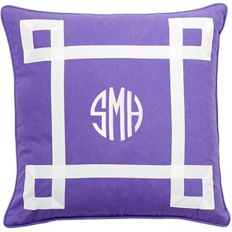 Pottery Barn Teen Ribbon Trim Monogram Pillow Cover, Pool