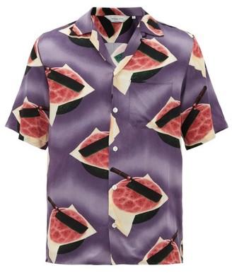 Nipoaloha - Hokusai Watermelon-print Shirt - Purple Multi