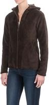 White Sierra Cozy Fleece Jacket - Hooded (For Women)