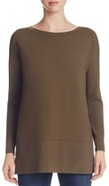 Eileen Fisher Boat Neck Drop Shoulder Tunic - 100% Bloomingdale's Exclusive