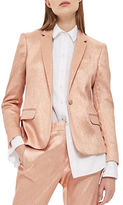 Topshop Metallic Suit Jacket