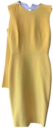 Victoria Beckham Yellow Wool Dresses