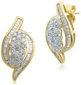 FINE JEWELRY Diamond Blossom 1 CT. T.W. Round White Diamond 10K Stud Earrings