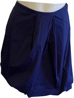 Prada Navy Cotton Skirts
