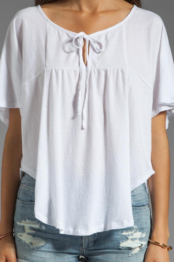 Bobi Lightweight Jersey Flutter Sleeve Top