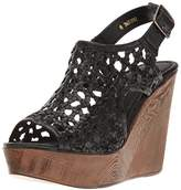Very Volatile Women's Inventive Wedge Sandal,9 B US