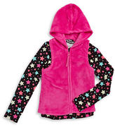 Planet Gold Girls 7-16 Zip-Up Fleece Vest and Tee Set