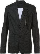 Ann Demeulemeester feather trim casual blazer - men - Cotton - L