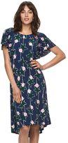 Elle Women's ELLETM Ruffle Fit & Flare Dress