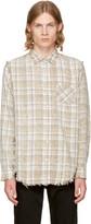 R 13 Ecru Plaid Inside Out Shirt