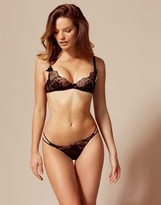 Agent Provocateur Laleh Thong Black and Bronze