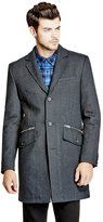 GUESS Waylon Wool-Blend Coat