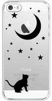 Qissy® TPU Star Pattern Silicone Case Back Cover Skin Protector for iPhone 5/5S/SE