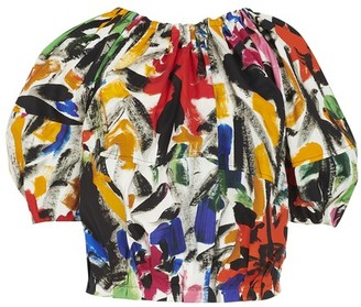 Marni Floral print short sleeves top