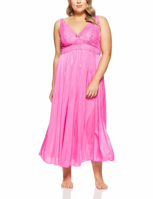Shadowline Women's Plus Size Silhouette 53 Inch Sleeveless Long Gown