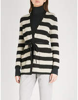 Max Mara Alea striped linen cardigan