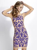 Baccio Couture - Sade - 3174 Mesh Painted Short Dress