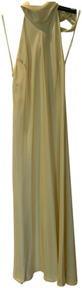 Galvan Yellow Polyester Dresses