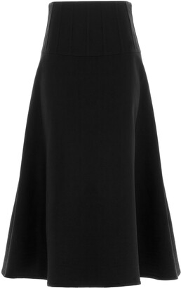 Valentino Crepe Couture Full Skirt