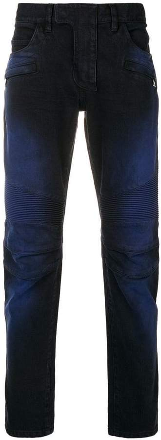 Balmain straight-leg ribbed jeans