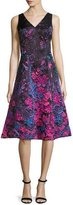 Rickie Freeman For Teri Jon Sleeveless Ombre Floral Fit-and-Flare Dress, Multicolor